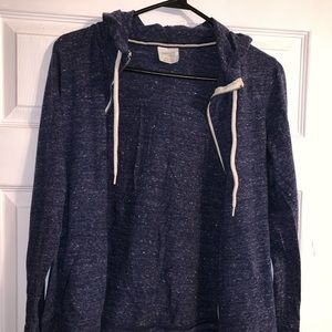 Blue zip up jacket